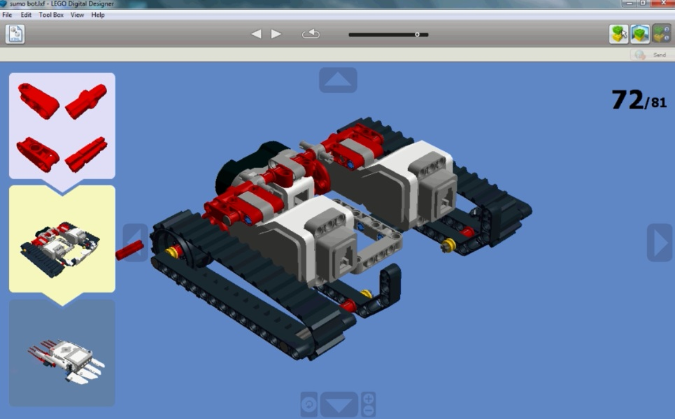 Creating and Programming of LEGO sumo robot using Mindstorms IDE